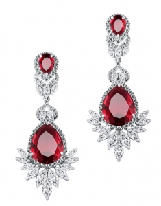 Cercei Fashion Chandelier True Ruby