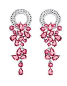 Cercei red Passion cu Swarovski Elements
