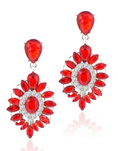 Cercei Chandeliere Vintage red