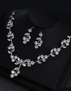 Set bijuterii Romantic Bride cu Swarovski Elements