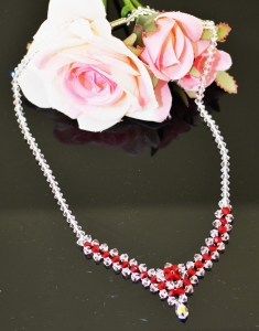 Colier Pure Red cu Swarovski Elements