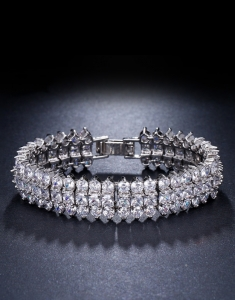 Bratara mireasa Triple Zirconia Diamonds