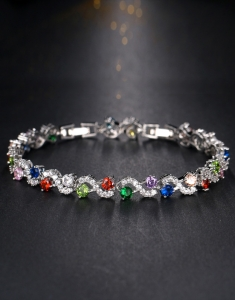 Bratara Rainbow Diamonds cu zirconii