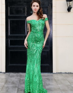 Rochie sirena verde Emperor Collection ORD2